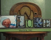 Baby Gift Boy's Personalized and Custom Name Sign with Picture Baby Shower Gift boy's name sign personalized and customized
