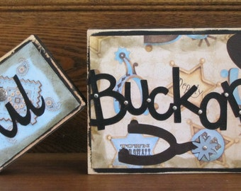 Lil Buckaroo Word Blocks