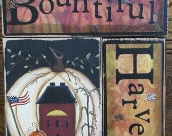 Bountiful Harvest Fall Primitive Decor
