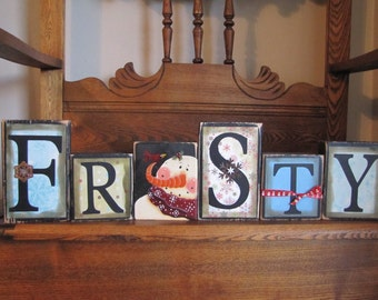 Frosty the Snowman Winter Decor Sign