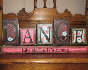 Dance Like No One is Watching Sign Word Blocks