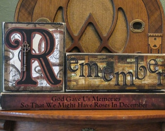 Customized Inspirational, Memorial and Sympathy Sign - Remember - God Gave Us Memories So That We Might Have Roses In December