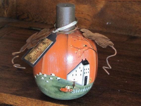 Primitive Pumpkin Fall Decor