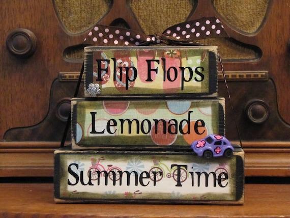 Flip Flops, Lemonade, Summer Time Word Stacker