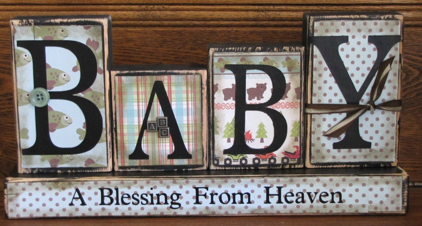 Baby a blessing from heaven baby boy by punkinseedproduction