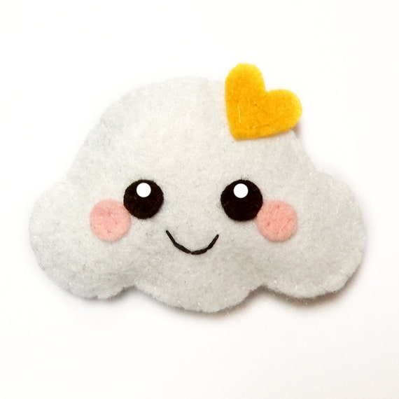 Happy Cloud Felt Accessory brooch hair clip