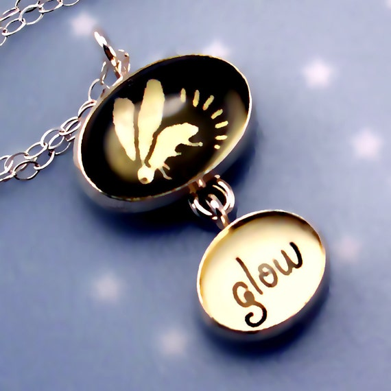 Firefly Necklace says Glow in Yellow & Black