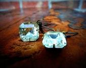 Earrings- Vintage Rhinestones Diamonds Are a Girl's Best Friend
