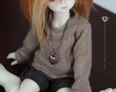 YoSD BJD Doll Necklace - Heart Locket - Made to Order