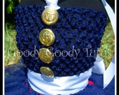 BABY'S DRESS BLUES Military Inspired Crocheted Top Tutu Dress - Small 12/18mos