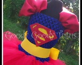 LOIS AND CLARK Superman Inspired Tutu Dress - Small 12/18mos