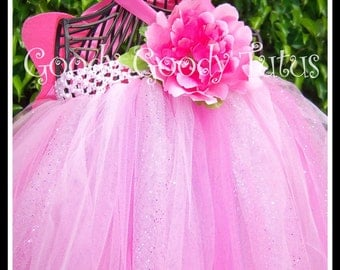 FAIRYTALE PRINCESS Pink Tutu Dress 4 Pc Set with Wings, Princess Crown and Wand
