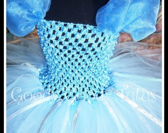 THE GLASS SLIPPER Cinderella Inspired Tutu Dress in Soft Blue