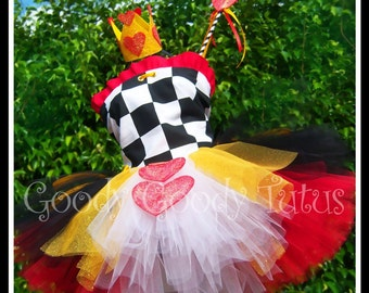WONDERLAND SWEETHEART Alice in Wonderland Inspired Tutu Set with Corseted Top, Sparkly Crown and Wand
