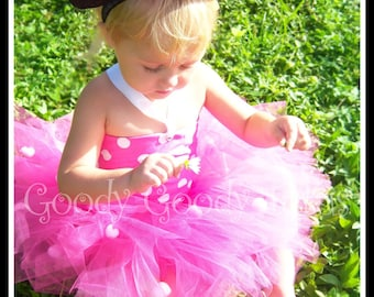 MISS MINNIE Tutu Costume with Corseted Top and Ears