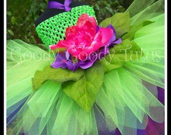 GARDEN SPRITE Flowery Fairy Inspired Tutu Dress - Large 4-6 T
