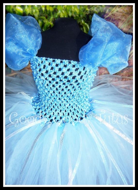 THE GLASS SLIPPER Cinderella Inspired Tutu Dress in Soft Blue