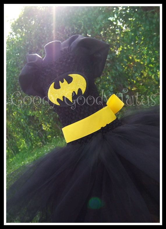 I'M BATGIRL Batman Inspired Tutu Dress - Small 12/18mos