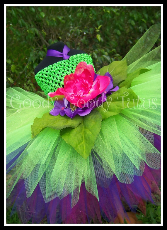 GARDEN SPRITE Flowery Fairy Inspired Tutu Dress - Large 4-6 T