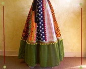 Patchwork skirt, Gypsy circus sideshow