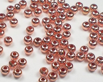3mm Copper Beads Genuine Copper Spacer Beads Copper Rondelle Beads 144 pcs. GC-179