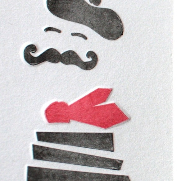 Le Petite Moustachu French Mustache Flat Card With Envelope