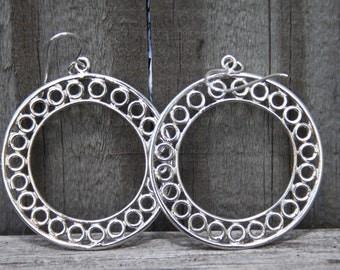 Hoop Earrings Sterling Silver  ENDLESS CIRCLES