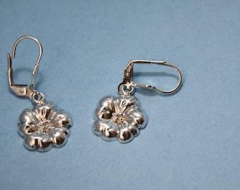 Earrings Dangle Sterling Silver Flower Dulcie series