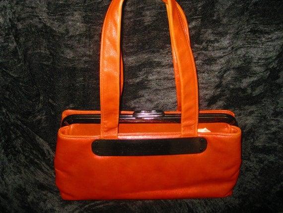 Vintage Ruth Saltz Rust Leather Handbag