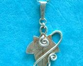 Ivy pendant silver, Jewellery, SquareHare, UK, Vegan, Free Shipping fairy