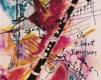 Clarinet - Music Print - Hand Signed
