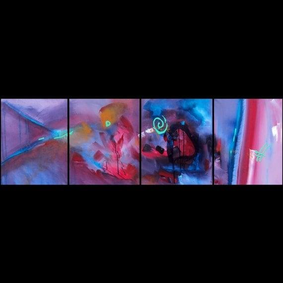 DREAM INTERPRETATION - Original 64 Inch Abstract Art Painting by RENFIELD