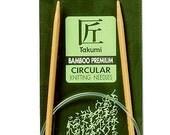 Clover 24 Inch Size 7 Takumi Circular Bamboo Knitting Needles Part No. 3016-24-7