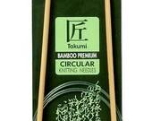 Clover 36 Inch Size 9 Takumi Circular Bamboo Knitting Needles Part No. 3016-36-9
