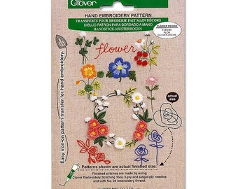 Clover Hand Embroidery Pattern Flower Part No. 8820 DISCONTINUED