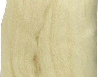 Clover Felting Natural Wool Roving Off White Part No. 7920