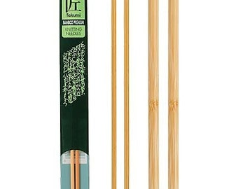 Clover 13 Inch Size 8 Takumi Single Point Bamboo Knitting Needles Part No. 3012-8