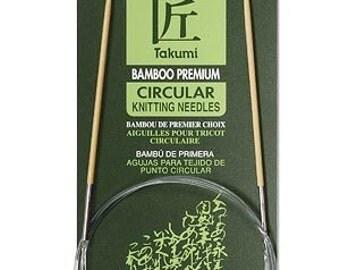 Clover 3016//29-0 Bamboo Circular Knitting NeedlesTakumi 29-Inch Size 0