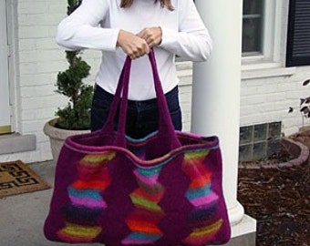 Iknitiative Knitting Pattern Zig Zag Bag Part No. A09 DISCONTINUED