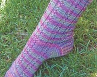 Iknitiative Knitting Pattern Magic Lace Rib Socks Part No. A27 DISCONTINUED