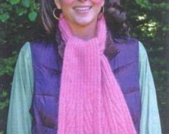 Iknitiative Knitting Pattern Flared Rib Scarf Part No. A33 DISCONTINUED