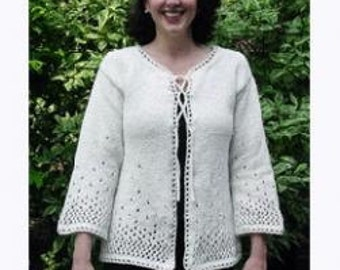 Iknitiative Knitting Pattern Sprinkle Lace Cardigan Part No. S08 DISCONTINUED