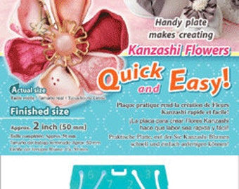 Clover Kanzashi Flower Maker - Round Petal Small (2 Inches) Part No. 8480