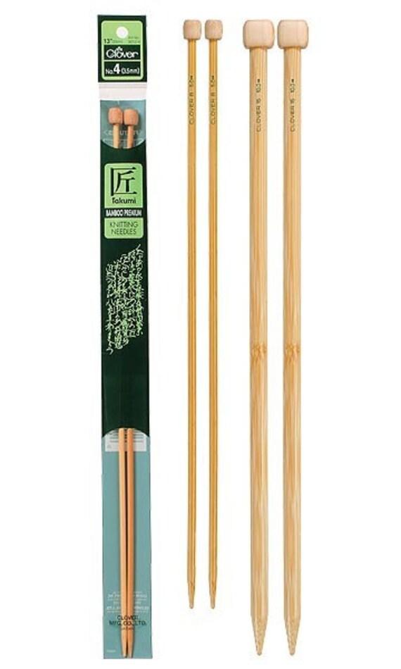 Clover 13 Inch Size 3 Takumi Single Point Bamboo Knitting Needles Part No. 3012-3