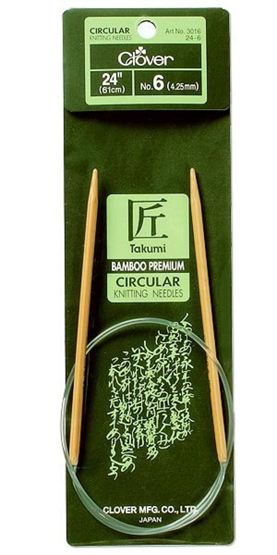 Clover 24 Inch Size 3 Takumi Circular Bamboo Knitting Needles Part No. 3016-24-3