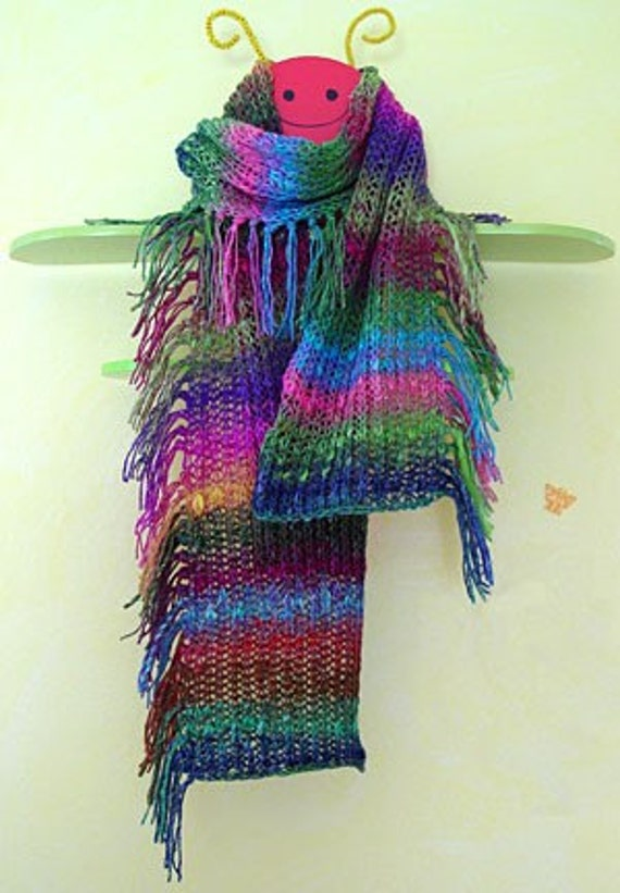 Iknitiative Knitting Pattern Instant Fringe Scarf Part No. A01 DISCONTINUED