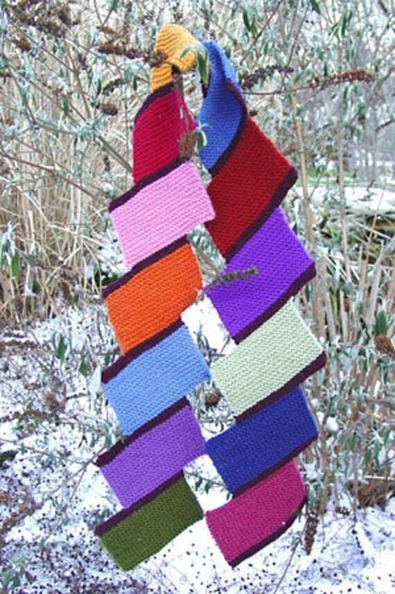 Iknitiative Knitting Pattern Chock-A-Block Scarf Part No. A17