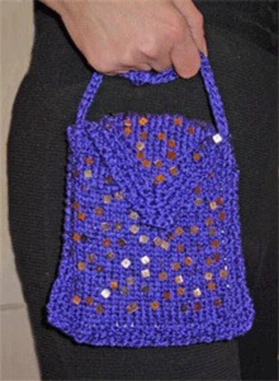 Knitting Pattern Evening Bag : Iknitiative Knitting Pattern Spangle Evening Bag Part No ...