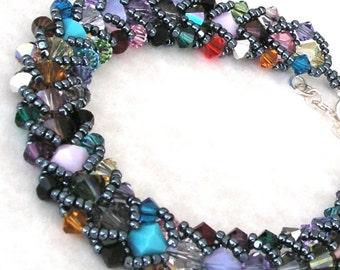 Anklet - Swarovski Crystals - Northern Lights