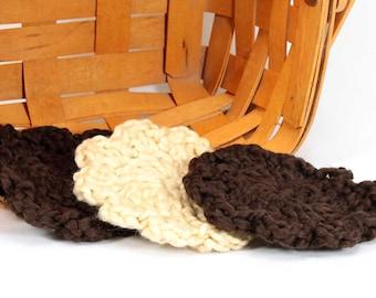 Face Cloths - Organic Cotton - Set of 6 - 4 Espresso and 2 Macadamia